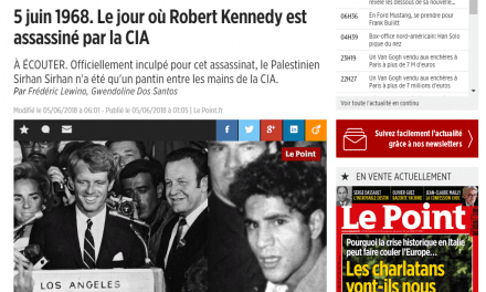 Dérapage du Point : non, la CIA n'a pas assassiné Robert Kennedy